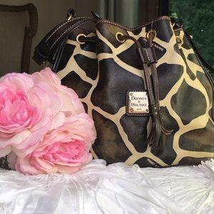 Dooney & Bourke giraffe print leather purse great